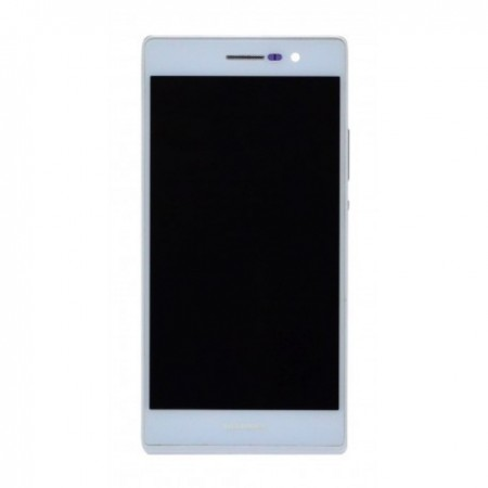 Huawei Ascend P7 Γνήσια οθόνη και touch Άσπρη, με Πλαίσιο
