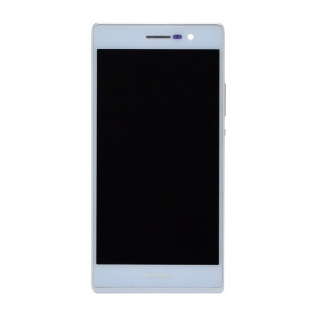 Huawei Ascend P7 Γνήσια οθόνη και touch Άσπρη, με Πλαίσιο
