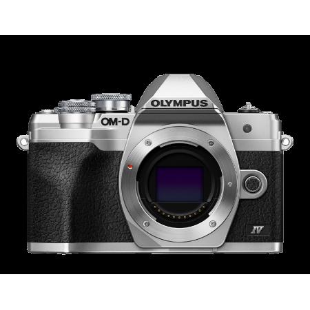 Olympus E-M10 IV Camera Body silver, BLS-50, F-5AC USB-AC Adapter, USB cable, Shoulder Strap