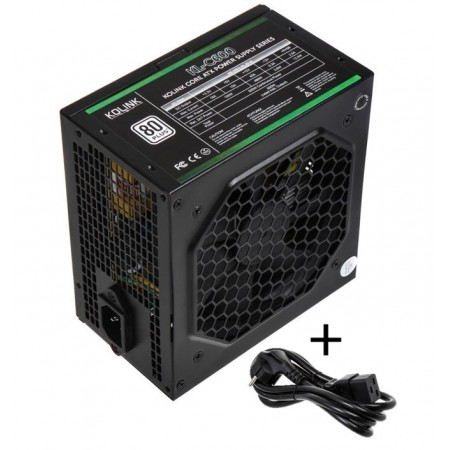 Kolink Core 80 PLUS PSU 600 Watt PC Power Supply - With Cable