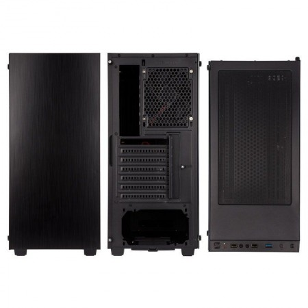 Kolink Stronghold Midi-Tower, Tempered Glass PC Case - black