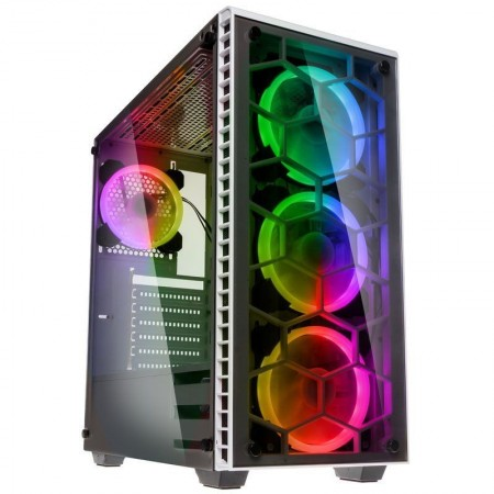 Kolink Observatory RGB Midi-Tower, Tempered Glass PC Case - white Window